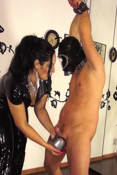 Lady ALEXIS and masked slave