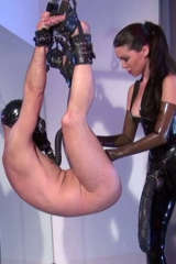 Latex Lady GINA and helpless slave
