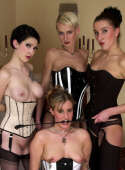 Domina and her twisted slavegirls play dirty games