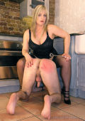 Slave punished in the kitchen