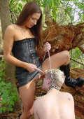 Outdoor femdom action